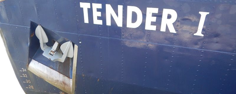 Rope in bow thruster of TENDER I